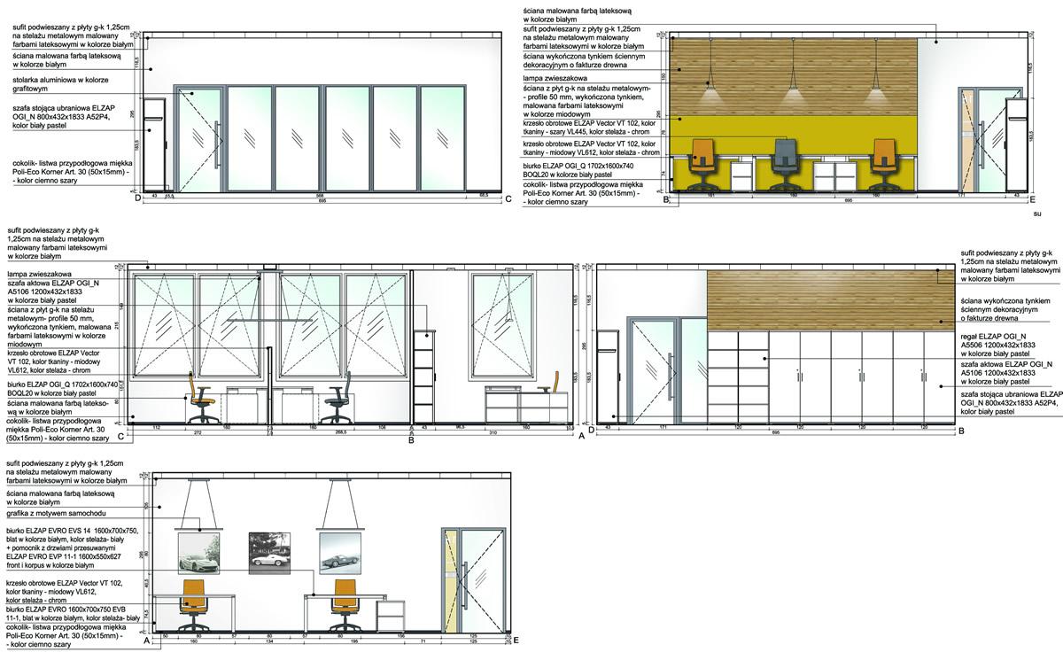 Projekt wnętrza biurowca firmy Boston w Gliwicach 2015r.
