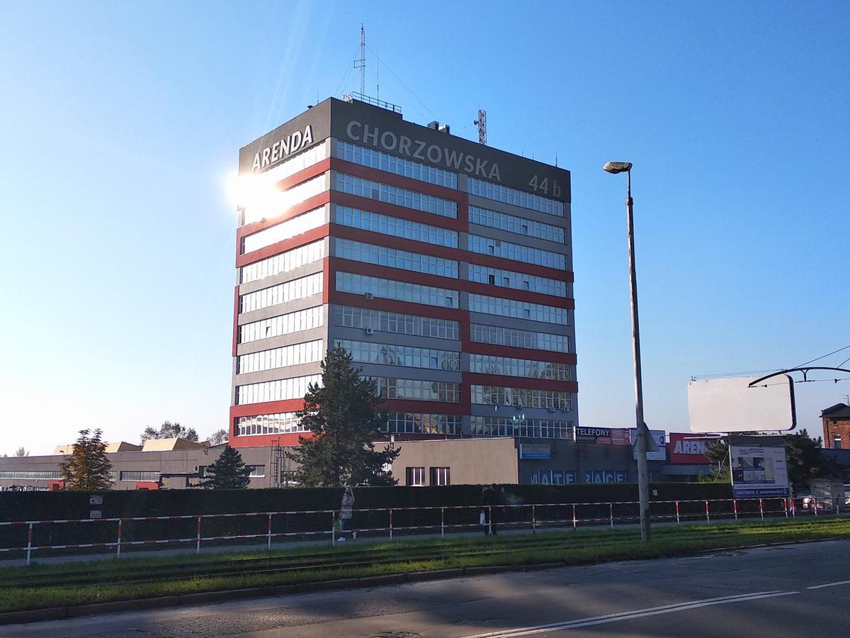 Remont elewacji budynku biurowego Arenda w Gliwicach 2013r.