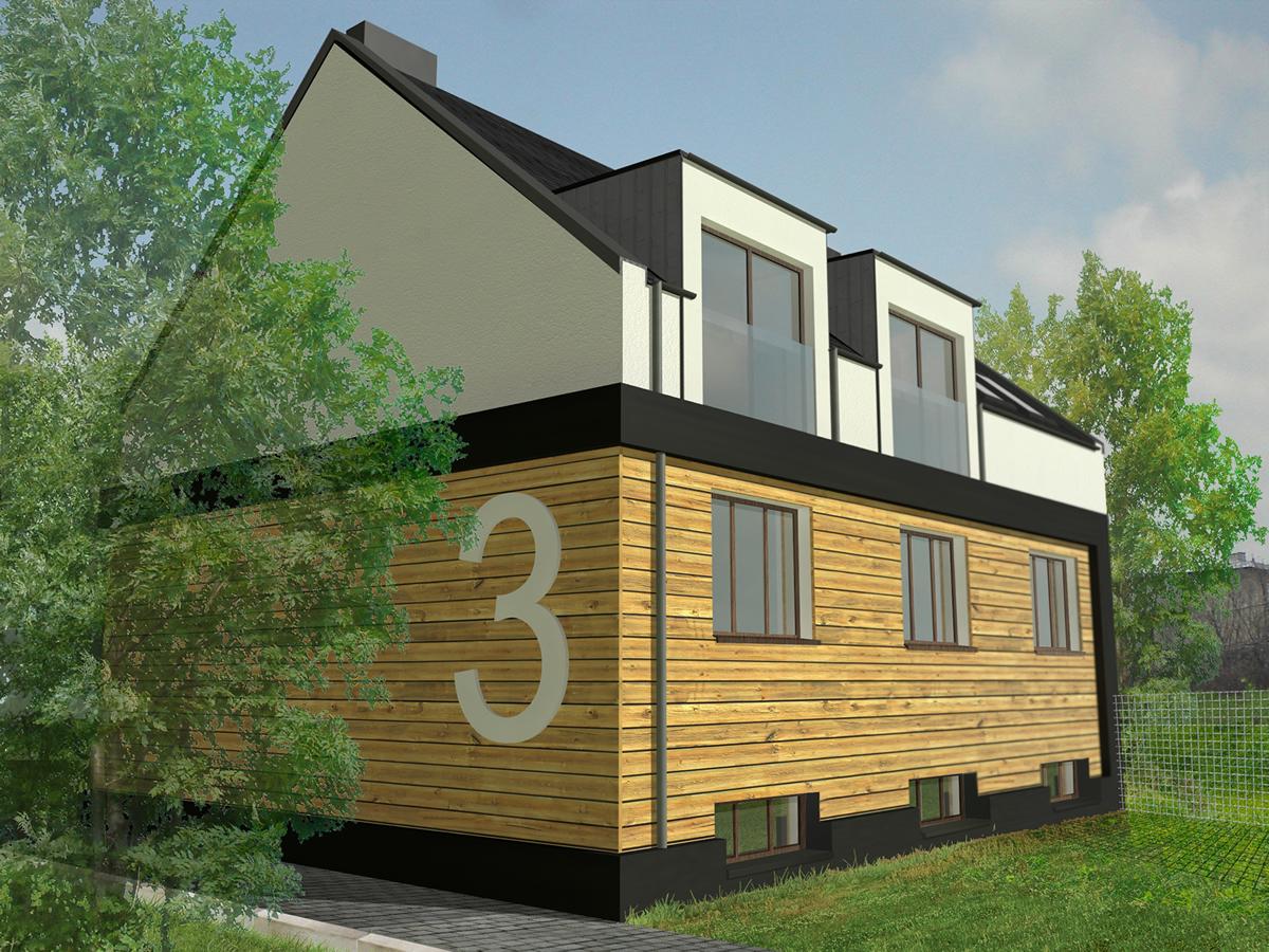 Nadbudowa domu w Sosnowcu 2011r.