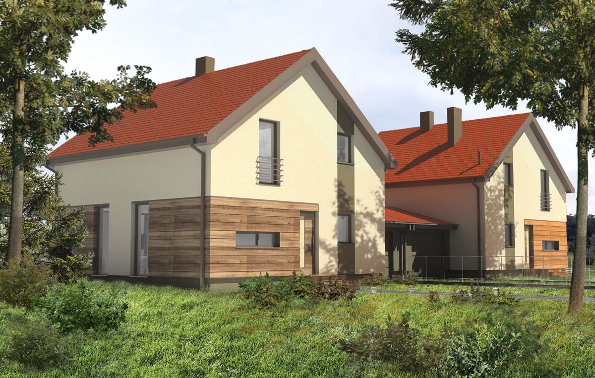 Dom w Zabudowie Bliźniaczej w Dzierżnie 2016r